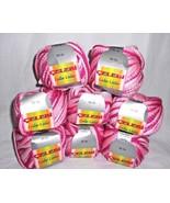 Celebi Lule Lule Ribbon Yarn Raspberry Pinks 8 Skein Balls Lot - $27.70