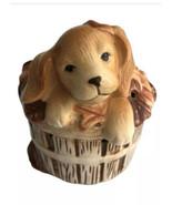 AVON  1984  BASKET  OF  FUN  Ceramic Pomander Spaniel Puppy Pouporri Con... - $13.86