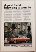 1971 Print Ad Buick Opel 1900 Sport Coupe Old English Sheepdog - $9.41