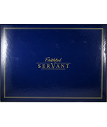 Faithful Servant Legal Size Zippered Portfolio (Blue and Brown) Faux Lea... - $25.90