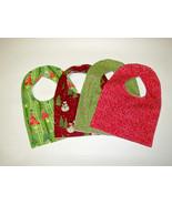 Clearance  Baby Bib, Set of 4 Baby Bib,  Christmas Theme baby Bib, Flann... - $14.89