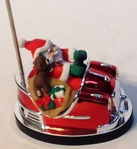 Christmas Ornament Here Comes Santa Bumper Car Hallmark Keepsake1998 - $11.83