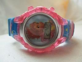 Disney Digital Wristwatch Colorful Pink Blue Buckle Band Silver Tone Details - $29.00