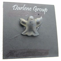 Vintage Halloween Black Ghost Enamel Darlene Group Pin Brooch NOS - $13.86