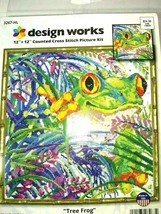 "Design Works TREE FROG Counted Cross Stitch Kit #3267HL 12""x12"" Sealed USA - $24.47"