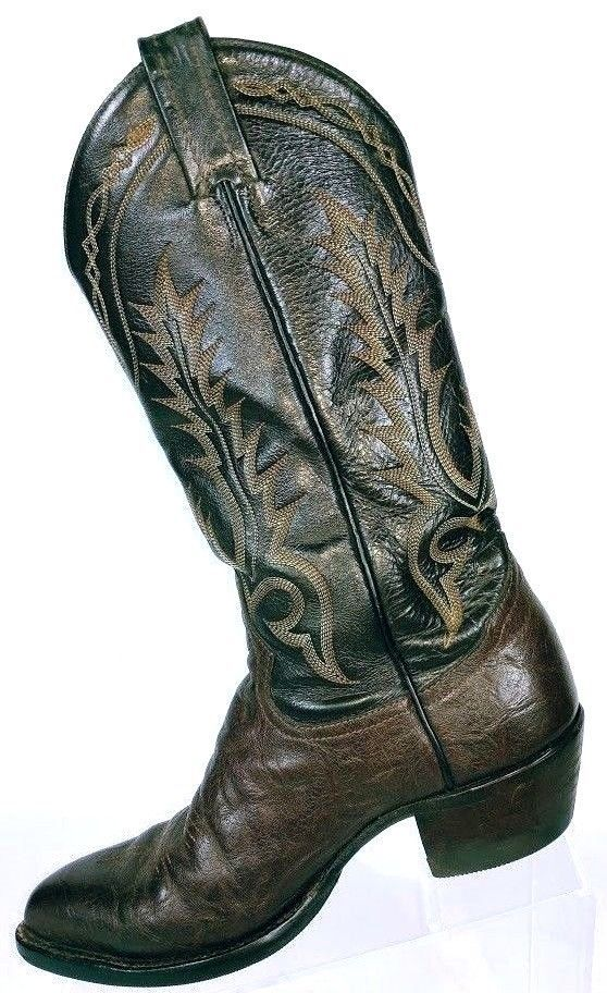 Tony Lama Men's Brown Leather Western Cowboy Boots 67044 Size 6 B