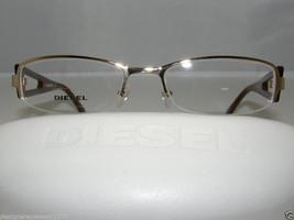 New Authentic Diesel 087 Half Rimless Eyeglasses Color HUU Gold DV 0087 - $71.24