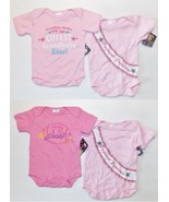 Mon Cheri Infant Girls Set of 2 Bodysuits Pink ... - $7.99