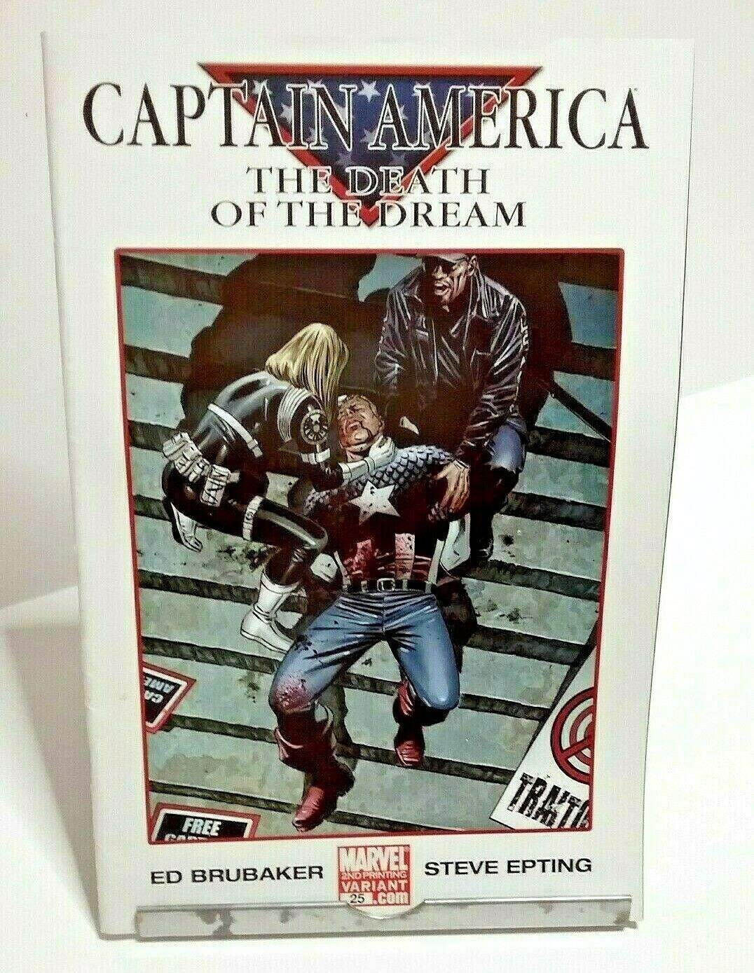 Captain America Death Of A Dream Marvel Issue 25 April 2007 Variant