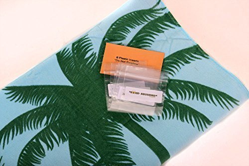 Sand Secured Outdoor Towel Set: One1 Starfish Design & One1 Palm Tree Design, 2  image 9