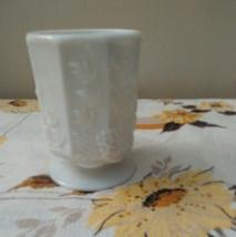 Westmoreland Paneled Grape Milk Glass Vase Planter - $69.00