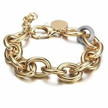 CIUNOFOR CZ Bracelet for Women Girls Wide Cuban Curb Link Bracelet Silve... - $23.97