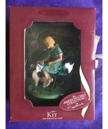 1934 KIT With Dog American Girl Handcrafted Keepsake Ornament W/ Box Ha... - $23.95