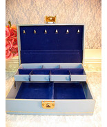 Vintage Design Phillipp Blue Jewelry Box, By Appointment To The Royal Sw... - $49.99