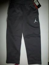 Nike Jordan Jumpman Boys Size 4 Grey Therma Fit Athletic Pants New 852747 - $16.82