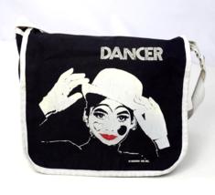 Vtg 80s Black White Crossbody Bag Messenger Satchel Purse ROSSINI Dancer... - $38.60