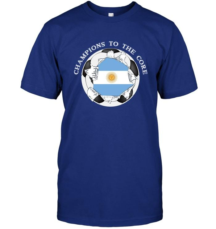 Argentina Soccer T Shirt Champions To The Core Football