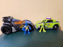 Fisher Price Imaginext DC Super Friends Batman Batmobile (WORKS) w/ Ridd... - $44.99