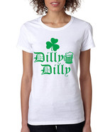 Women's T Shirt Dilly Dilly St Patrick's Shamrock Beer Cheers Shirt - $17.94+