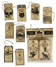Bethany Lowe Halloween Cabinet of Curiosities 10 Tags Ornaments Decorations - $281,62 MXN