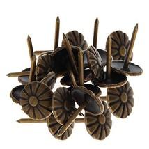 MroMax Upholstery Nails Tacks 11mm Head Dia Antique Round Thumb Push Pins Bronze