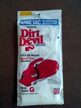 New 3pk DIRT DEVIL Royal Hand Held Vac Vacuum Cleaner Bags Style G 3-010... - $7.57