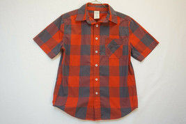 879b1ab1 Faded Glory Midweight Large-Plaid Red/Black Short-Sleeve Shirt, Large 9598