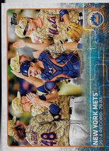 2015 Topps Baseball Card, #24, New York Mets, Team Card - $0.99