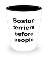 Boston Terrier Shot Glass Player Lover For Birthday Christmas Funny Ceramic  - £9.41 GBP