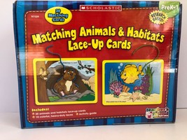 New: Matching Animals and Habitats Lace-Up Cards Prek-1 NRFB Sealed Educ... - $16.78