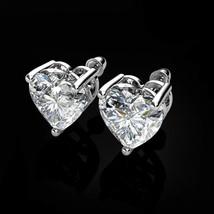 1 Ct 14K Solide Or Jaune Round Black Diamond Vis Arrière Clous D/'Oreilles