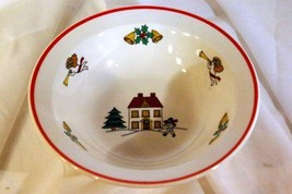 Jamestown China Joy of Christmas Rimmed Cereal Bowl - $3.46