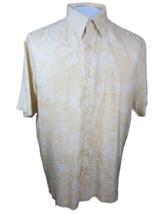 ALFANI Men Hawaiian ALOHA shirt pit to pit 25 sz L silk floral camp luau... - $14.83
