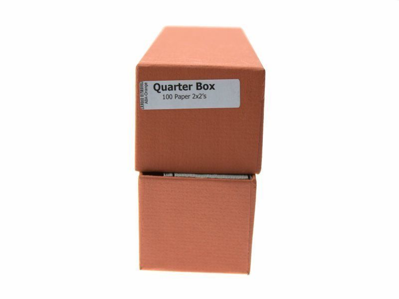 """Guardhouse Orange Quarter Coin Storage Box with 100 Coin Flips, 2"""" x 2"""" x 8.5"""" image 4"""