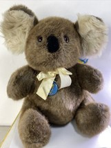 "Vintage 1986 Dakin Large Elite Koala Bear Plush Retired PaperTag 14"" - $32.95"