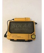 SONY WM-F107 Solar Walkman Cassette Player FM/AM Radio. It Works - $445.50