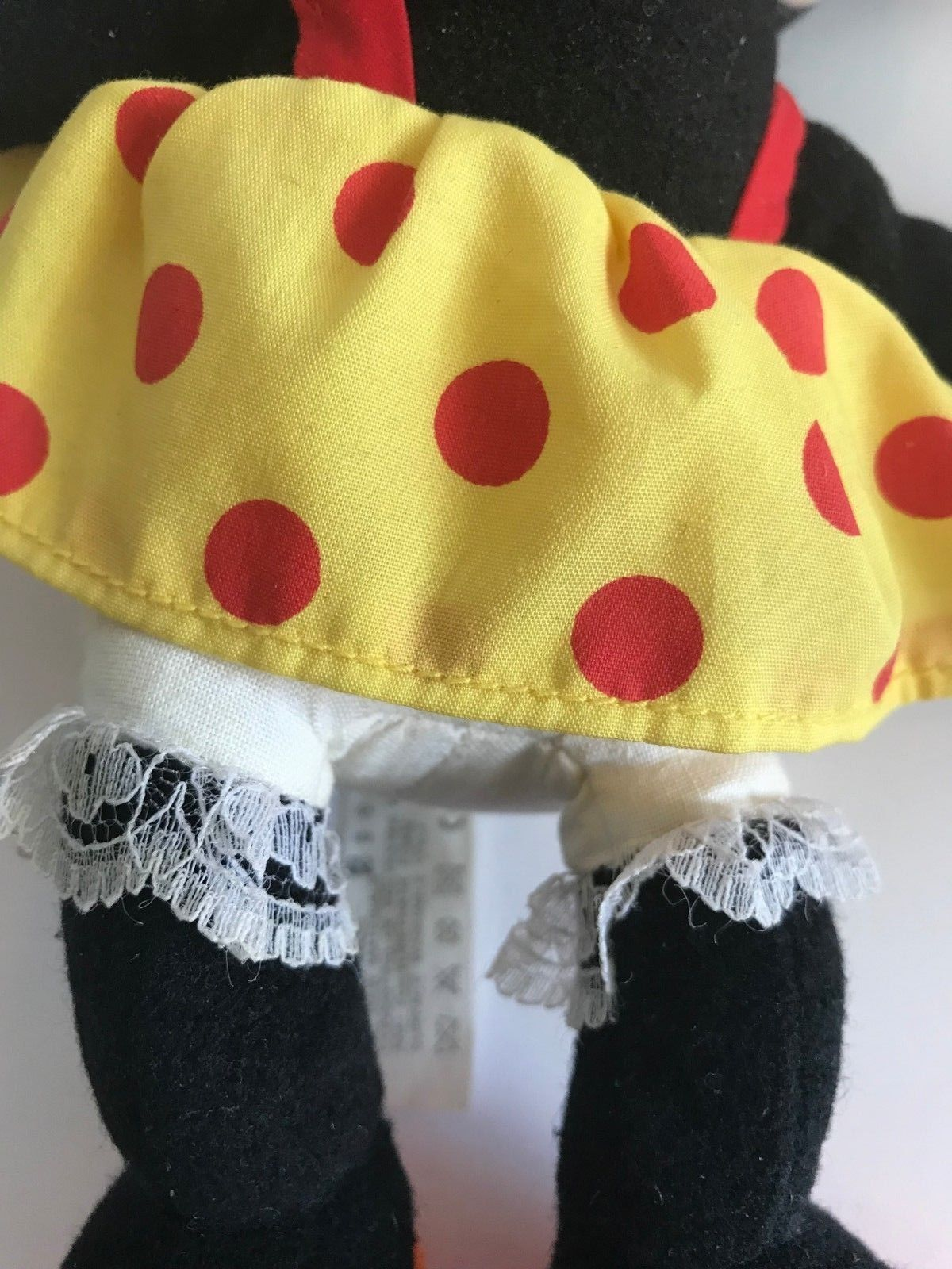 Mattel Arcotoys Minnie Mouse Yellow Red Polka Dot Flower Hat Plush Stuffed Doll image 9