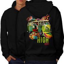 Road Trip Adventure Sweatshirt Hoody Groovy Van Men Hoodie Back - $20.99+