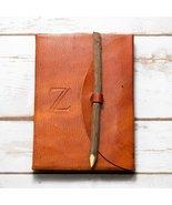 Letter Z Alphabet Handmade Leather Journal - $28.00