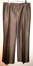 JONES NEW YORK COLLECTION Gold/Black Wool Blend Flare Leg Dress Pants (1... - $48.90