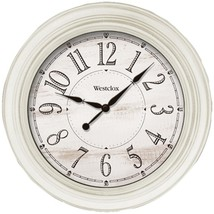 Westclox 32213AW-20 20-Inch Antique White Farmhouse Wall Clock - $47.80