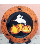 """Halloween GATES WARE by Laurie Gates 9 1/2""""  Plate Ghosts Pumpkins Spide... - $41.58"""