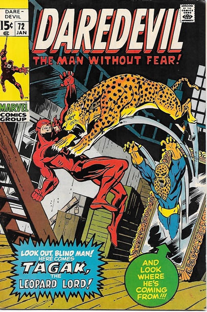 Daredevil Comic Book #72 Marvel Comics 1971 FINE+
