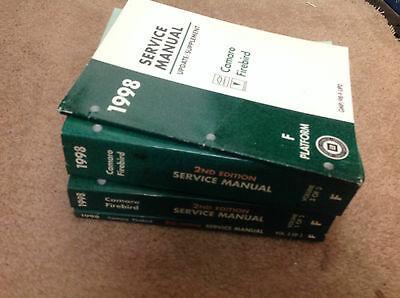 1998 CHEVY CAMARO PONTIAC FIREBIRD 2ND EDITION Service Shop Repair Manual Set x