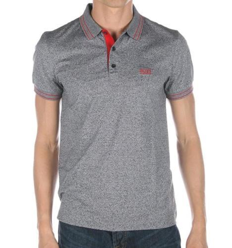 Hugo Boss Men's Slim Fit Premium Cotton Polo Shirt T-Shirt Gray 50315606