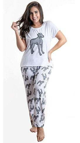 Primary image for Dog Weimaraner Great Dane pajama set with pants for women