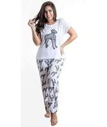 Dog Weimaraner Great Dane pajama set with pants for women - $35.00