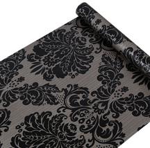 SimpleLife4U Black Damask Self-Adhesive Shelf Drawer Liner PVC Contact P... - $29.89