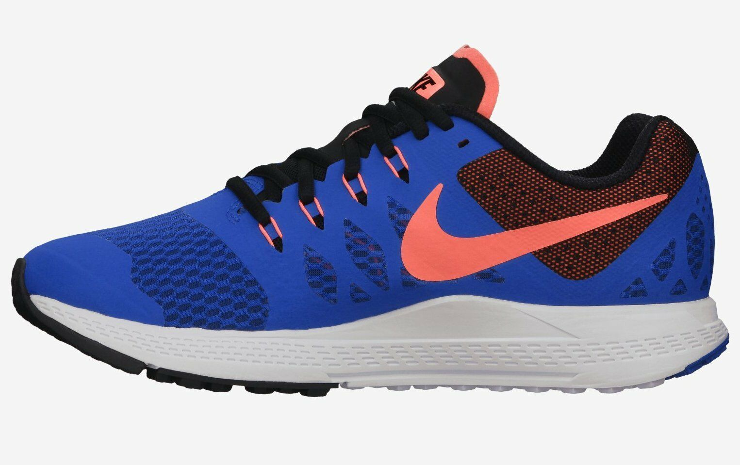 NIKE WOMEN'S AIR ZOOM ELITE 7 SHOES SIZE 6 hyper cobalt mango black 654444 400 image 2