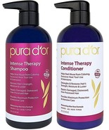 Pura D'or Intense Therapy Shampoo + Conditioner Set - SEALED - 16 oz each - $49.50